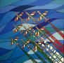 marino-salvador-iltramonto-80x80x3cm-frecce-tricolori-italiane
