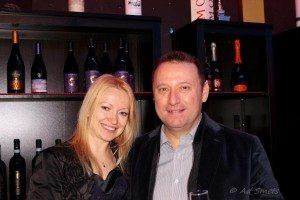 eigenaar Roberto Visentin met echtgenote Ekaterina Ryzhko
