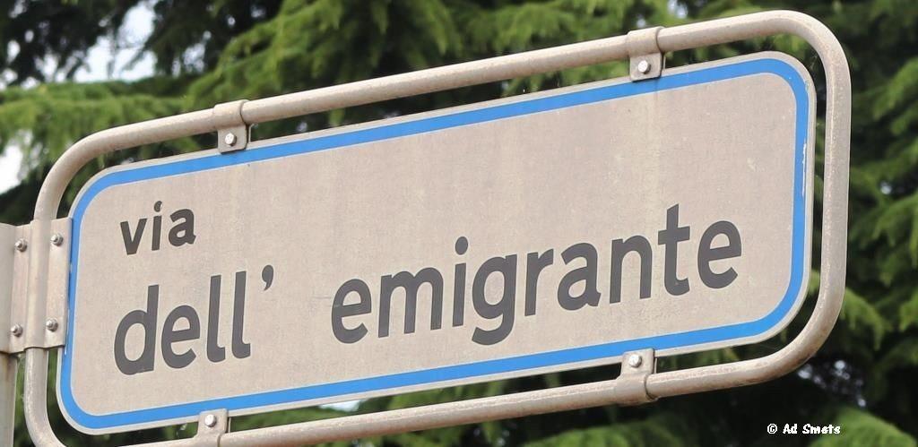 Er trokken zoveel Friulanen weg, dat zelfs de naam 'Straat van de Emigranten' kreeg