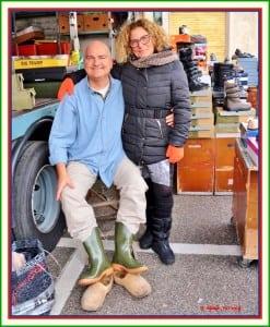 laarzen kopen op de markt